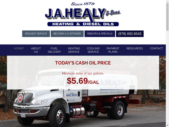 1 94 J A Healy Sons Oil Co Ma 01886 Compare Heating Oil
