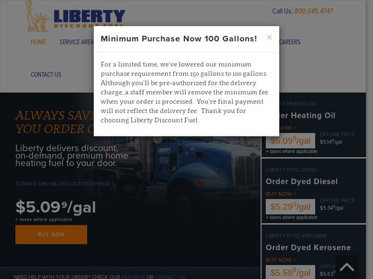 Liberty Discount Fuel Co, PA screenshot