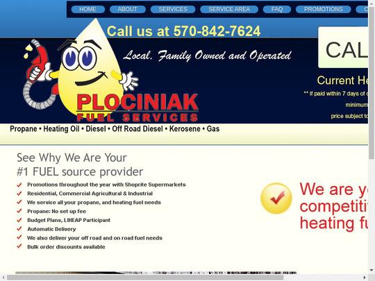 Plociniak Oil Co, PA screenshot