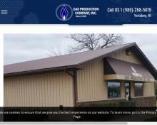 Gas Production Co Inc, MI screenshot