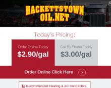 Hackettstown Oil Corporation, NJ screenshot