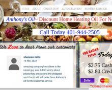 Anthony's Oil LLC, RI screenshot